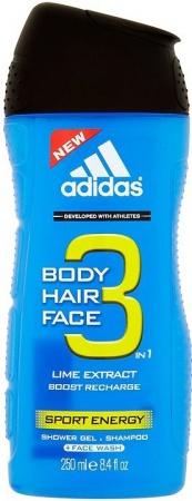Adidas sprchový gel 3v1 Sport Energy 250 ml