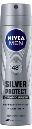 Nivea deospray Men Silver Protect Dynamic Power 150 ml