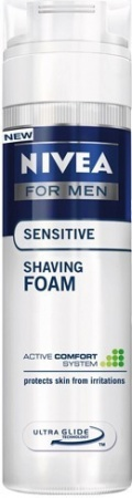 Nivea pěna na holení Men Sensitive 200 ml