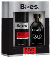 BI-ES sada Men Ego Black toaletní voda 100 ml+deospray 150 ml