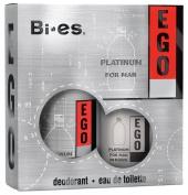 BI-ES sada Men Ego Platinum toaletní voda 100 ml+deospray 150 ml