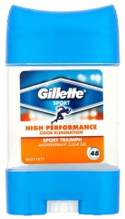 Gillette deostick clear gel Men Sport High Performance  70 ml