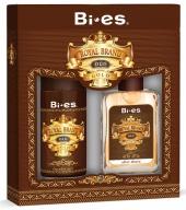 BI-ES sada Men Royal Brand Gold deospray 150 ml+voda po holení 100 ml