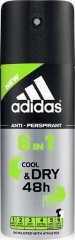Adidas deospray antiperspirant Cool & Dry 48H 6IN1 150 ml