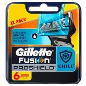 Gillette Fusion Proglide Proshield náhradní břity 6 ks