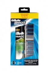 Gillette sada Mach3 Turbo 8 náhradních břitů + gel na holení 250 ml