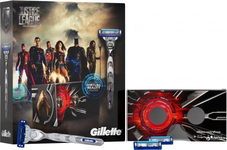 Gillette sada Mach3 Turbo strojek + 3 náhradní břity + sada Virtual realita