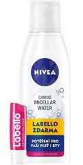 Nivea pleťová voda Micelární 3 v 1 citlivá pleť 200 ml + Labello