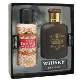 Whisky sada Double toaletní voda 100 ml + deospray 150 ml