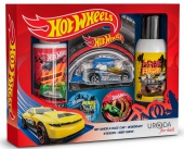 BI-ES sada Hot Wheels D-Muscle sprchový gel 150ml+deodorant 150ml+nálepky+autíčko