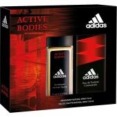 Adidas Active Bodies sada toaletní voda 100 ml + deo ve skle 75 ml
