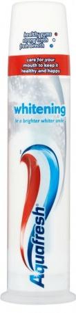 Aquafresh zubní pasta Whitening 100 ml - Dávkovač