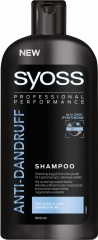 Syoss šampon na vlasy Men proti lupům 500 ml
