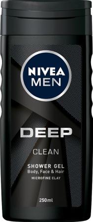 Nivea sprchový gel Men Deep Clean 250 ml