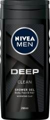 Nivea sprchový gel Men Deep Clean 250 ml