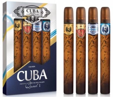 Cuba sada Originál mix EDT 4 x 35 ml Gold, Royal, Winner, Shadow