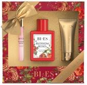 BI-ES sada Blossom Roses EDP 100ml+parfém 12ml+sprchový gel 50ml