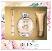 BI-ES sada I Just Love It EDP 100ml+parfém 12ml+sprchový gel 50ml