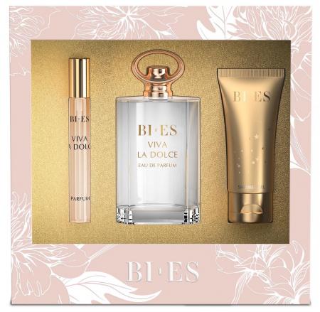 BI-ES sada Viva La Dolce EDP 100ml+parfém 12ml+sprchový gel 50ml