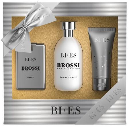 BI-ES sada Men Brossi EDT 100ml+parfém 15ml+sprchový gel 50ml