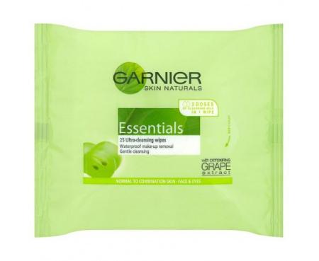 Garnier Skin Naturals Essentials odličující ubrousky 25 ks