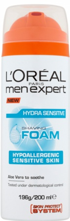 Loreal Men Expert pěna na holení Hydra Sensitive 200 ml