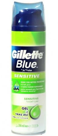 Gillette gel na holení Blue Sensitive 200 ml