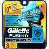 Gillette Fusion Proglide Proshield Chill náhradní břity 8 ks
