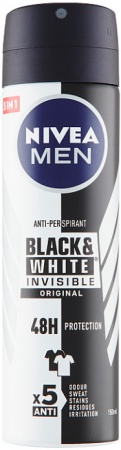 Nivea deospray Men Invisible for Black & White Original 150 ml
