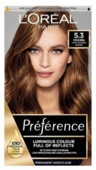 Loreal Paris Préférence Féria barva na vlasy 5.3 Virginia Světlá hnědá zlatá