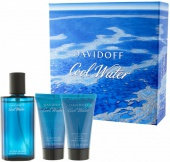 Davidoff sada Cool Water Men EDT 75 ml+sprchový gel 50ml+balzám po holení 50 ml