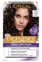 Loreal Paris Excellence Col Creme barva na vlasy 3.11 Ultra popelavá tmavá hnědá