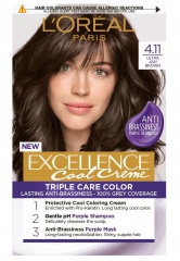 Loreal Paris Excellence Col Creme barva na vlasy 4.11 Ultra popelavá hnědá