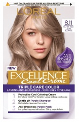 Loreal Paris Excellence Col Creme barva na vlasy 8.11 Ultra popelavá světlá blond