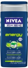 Nivea sprchový gel Men Energy 250 ml